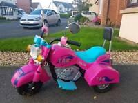 Ride on girls motorized bike