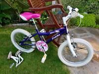 Girls Bike Probike Unicorn Glitter Like New Tyres Pumped & Ready to Roll