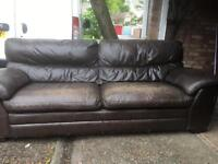 A brown 3 seat soft leather sofa can deliver