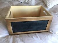 Chalkboard crate wedding DIY