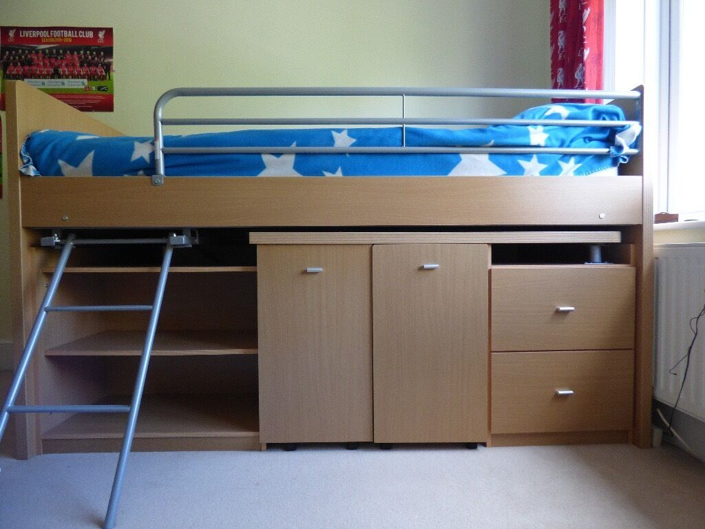 Dreams Hampshire Mid Sleeper Cabin Bed With Pull Out Desk