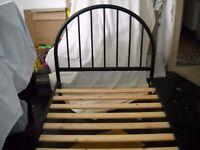 Single Bed - Black Metal Frame