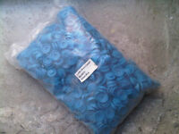 -- 1000 - 19mm Hexagonal Tek Screw CAPS - FOR ROOFING ROOF TIN SHEETS SCREW BOLTS - GARAGE / SHED