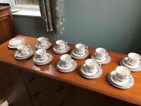 Vintage Lubern 22 Carat KT gold Tea Set 10 trios