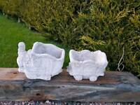 Concrete Train and Carriage Garden Planter