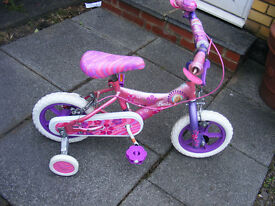 """12"""" WHEEL BARBIE BIKE WITH FITTED STABILISERS AGE 2+"""