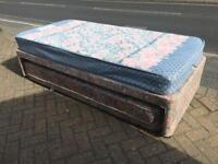 Single divan bed with guest bed-£40 delivered
