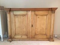 Antique Pine Cupboard with two adjustable shelves.