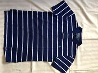 Ralph Lauren Polo Shirt (Small Men's) navy with white stripes