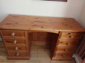 A solid pine dressing table for sale