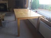 Contemporary John Lewis light oak dining table