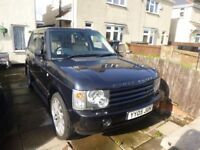 2005 Range Rover Vogue TD6 metallic blue cream leather
