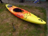 Pyranha Fusion Orange and Yellow Large Kayak Single seat