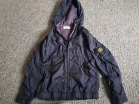 Navy Blue Stone Island Hooded Jacket Age 9/10
