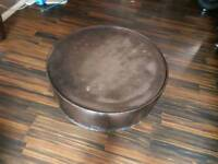 Hammered metal table