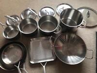 Stainless steel saucepan set - bargain