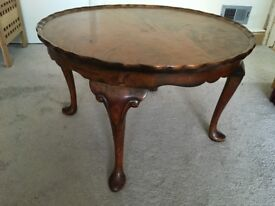 Antique Burr Walnut Coffee Table from 1950