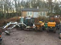 Digger hire with operator
