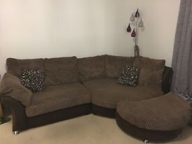 Corner sofa and armchair from dfs