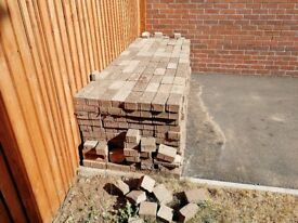 Block pavers for sale. Used. Approx 950 blocks plus half blocks.