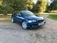 BMW 330Ci SE 2002 / 3 series Coupe 2dr / 3.0L Petrol / Manual / LOW MILEAGE