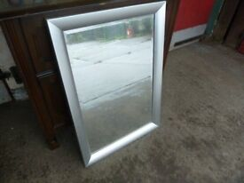 Silver Frame Mirror Delivery Available MM008