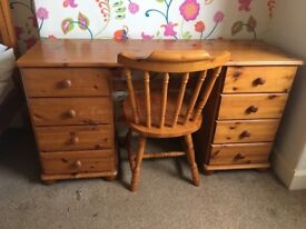 Pine Furniture........Wardrobe, Dressing Table and Bedside Cabinet