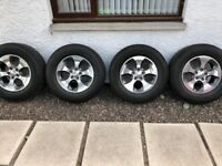 JEEP WRANGLER ALLOY WHEELS, 2016 OVERLAND MODEL WHEELS AND TYRES 265/70R18