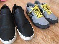 2x pairs of men's shoes size 7s