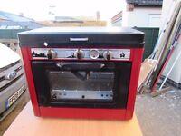 freestanding gas oven and twin burners for camper van etc
