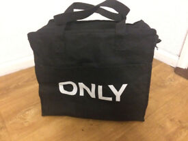 ONLY Fashion Bag, Black with White Font