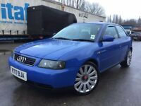 Audi A3 - 1.6 petrol - 3 Door - One year mot - Cambelt done - new clutch fitted - Big alloys