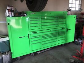 Snap on classic 96 toolbox with 2 side lockers ( extreme green )