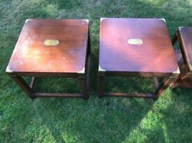 Three Harrods Side Tables