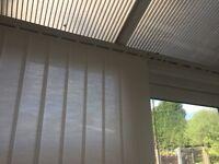 Vertical conservatory blind track