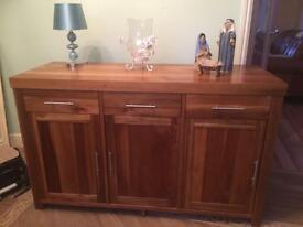 Walnut veneer cabinet