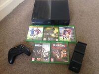 Xbox one 500gb wireless controller,5 games rainbow six siege/deadrising 4/dark souls 3/Fifa 14/16