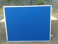 Large blue memo board