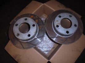 VW Passat 2003 4 Motion 4x4 Rear grooved Brake discs like new