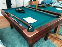 6ft American Style Pool Table + Cues etc.