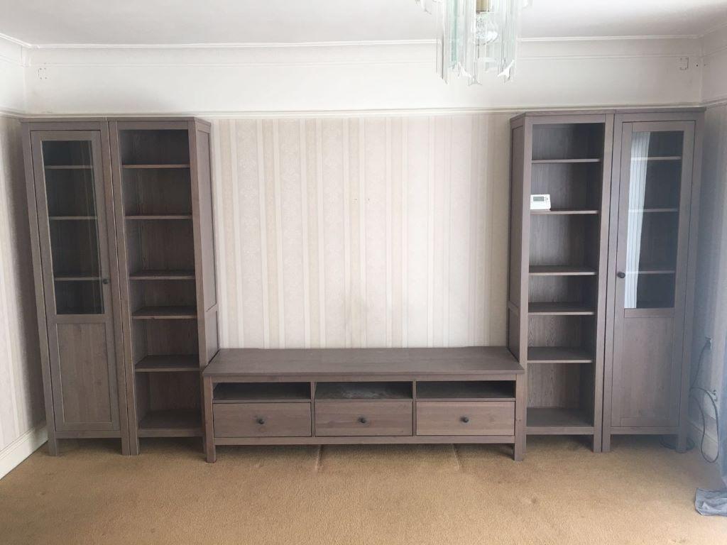 Ikea hemnes furniture light oak grey brown finish x 5 for Ikea hemnes grau