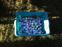 Golf balls selection of used balls suitable for practice etc.
