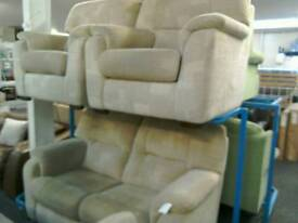 Cream 2 Seater sofa and 2 armchairs #32728 £200