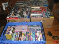vhs video tapes 4+ boxes full