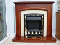 Electric fire with integrated surround