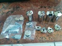 brand new chrome towel radiator FITTINGS. Never used. in bag
