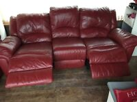 Two 3 seater sofa with recliners