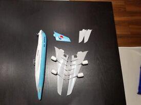 Korean Air, Airbus A380 Model Plane.