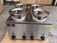 CATERING COMMERCIAL NEW 4 POT WET BAIN MARIE FAST FOOD RESTAURANT CAFE KEBAB CHICKEN TAKE AWAY SHOP