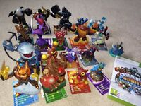 Xbox 360 Skylanders Giants game and 17 figures